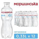 Упаковка минеральной природной столовой негазированной воды Моршинська 0,33 л х 12 бутылок, фото 4