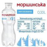 Упаковка минеральной природной столовой негазированной воды Моршинська 0,33 л х 12 бутылок, фото 5