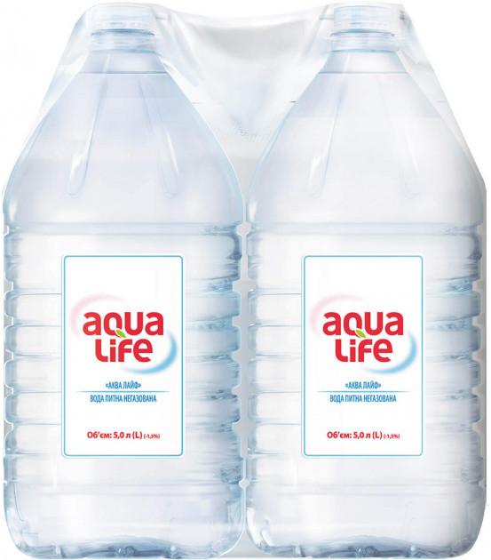 Упаковка минеральной столовой негазированной воды Aqua Life 5,0 л х 2 бутылки