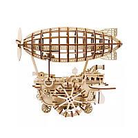 Детский деревянный 3D конструктор Robotime LK702 Дирижабль (5845-19368)