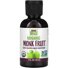 """Жидкий подсластитель архат NOW Foods """"Organic Monk Fruit"""" органический (59 мл)"""