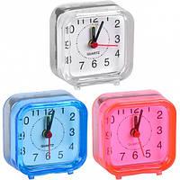 От 5 шт. Настольные часы - будильник 2046А/Х2-12 MINI 6*6*3см купить оптом в интернет магазине От 5 шт.