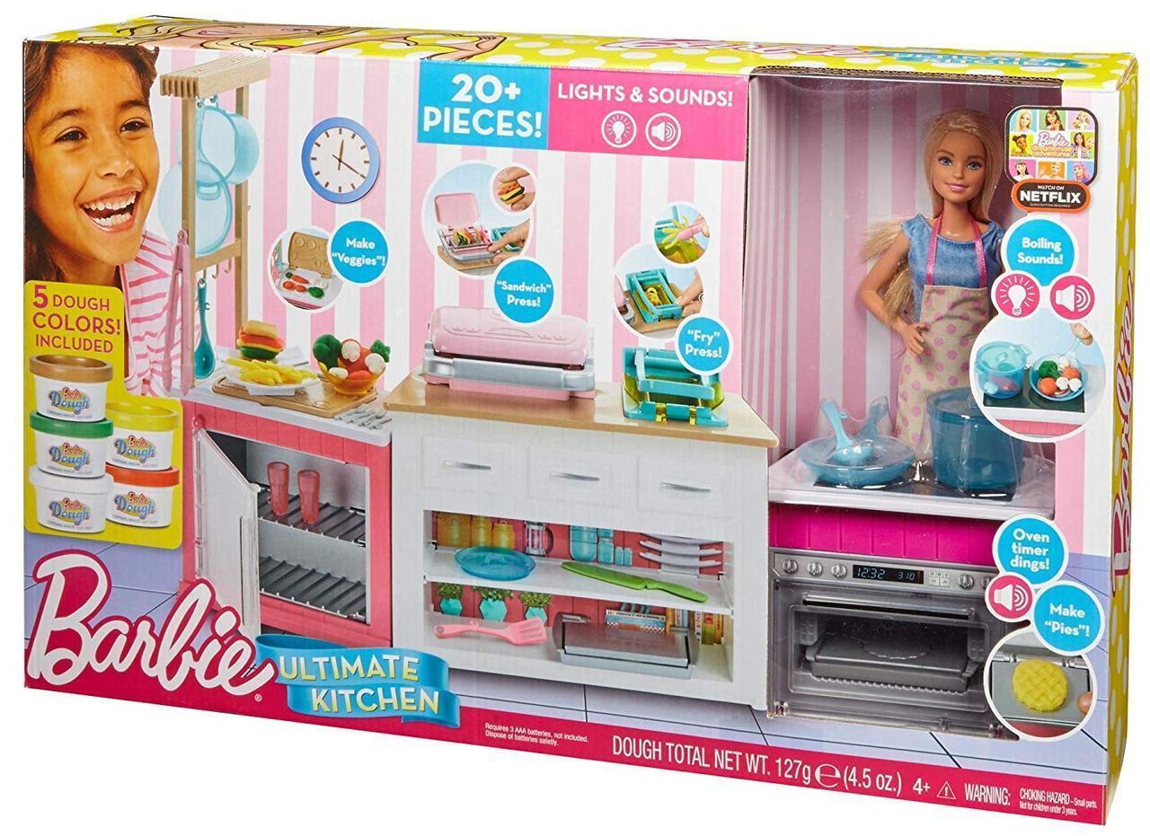 Игровой набор с куклой Барби Barbie Ultimate Kitchen Готовим вместе