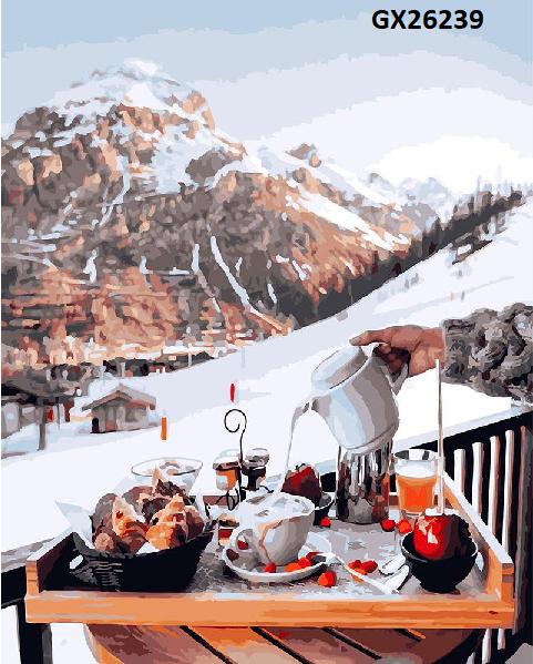 Картина по номерам. «Сніданок у швейцарських гір» GX26239