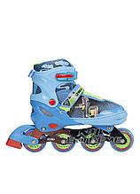 Роликовые коньки детские Nils Extreme NJ4605A размер 34-37 Blue. Ролики для детей
