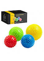 Массажные мячи с шипами 4FIZJO Spike Balls 4 шт 4FJ0115