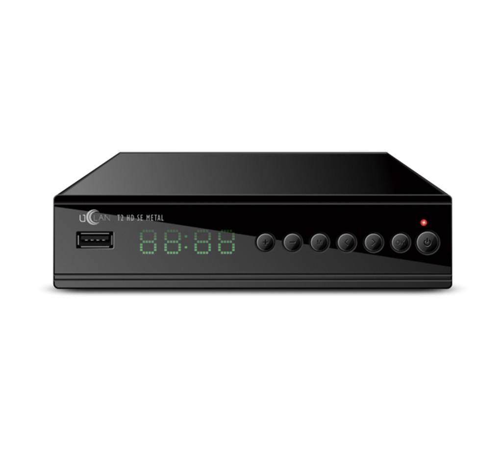 Тюнер Т2 uClan T2 HD SE Metal IPTV, 2 USB