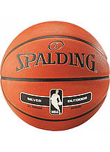 Мяч баскетбольный Spalding NBA Silver Outdoor размер 7