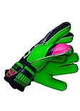 Вратарские перчатки SportVida SV-PA0002 размер 5. Футбольные перчатки зеленые, перчатки для футбола, фото 6