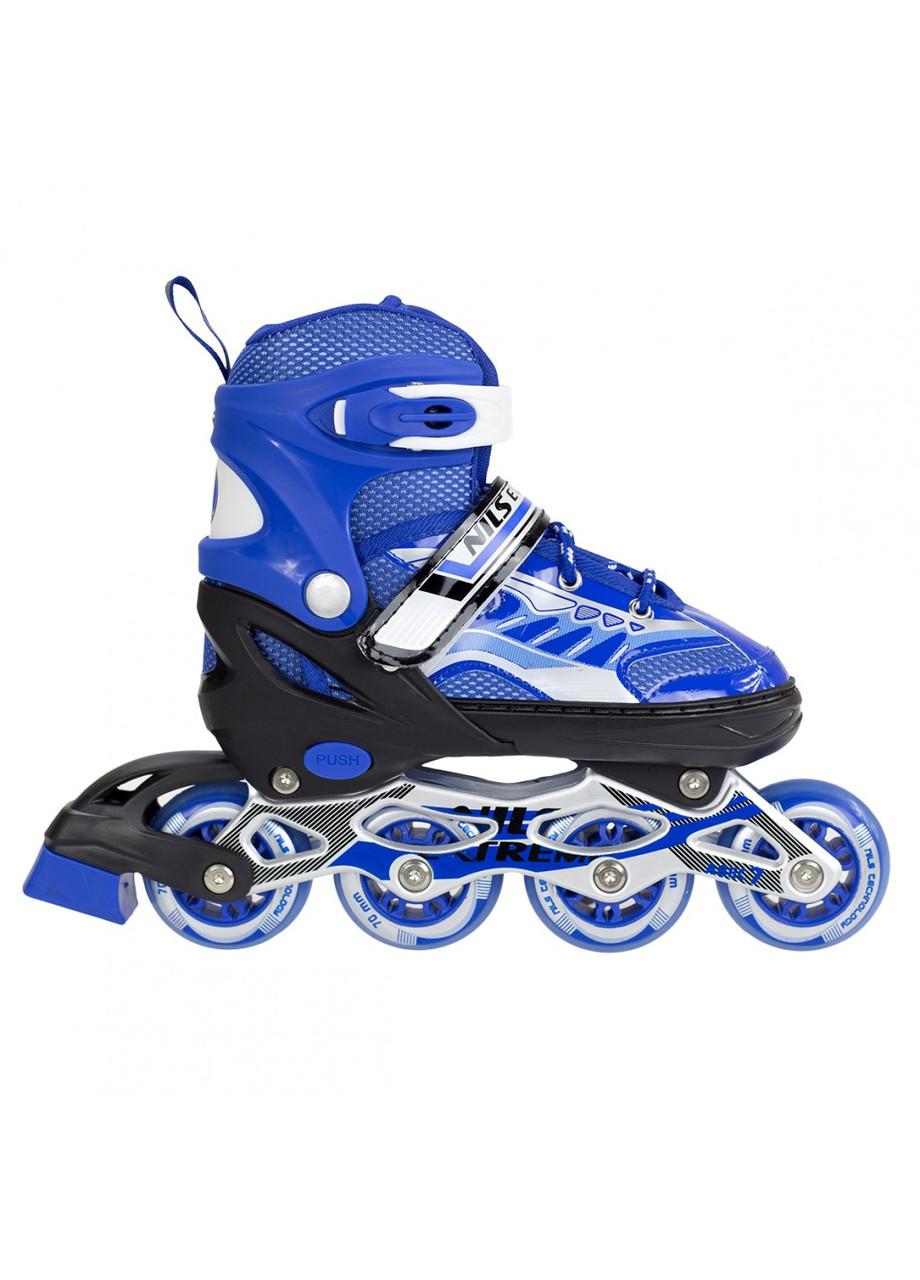 Роликовые коньки детские Nils Extreme NJ1828A размер 31-34 Blue. Ролики для детей