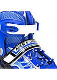 Роликовые коньки детские Nils Extreme NJ1828A размер 31-34 Blue. Ролики для детей, фото 5