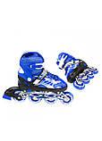Роликовые коньки детские Nils Extreme NJ1828A размер 31-34 Blue. Ролики для детей, фото 6