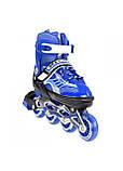 Роликовые коньки детские Nils Extreme NJ1828A размер 31-34 Blue. Ролики для детей, фото 10