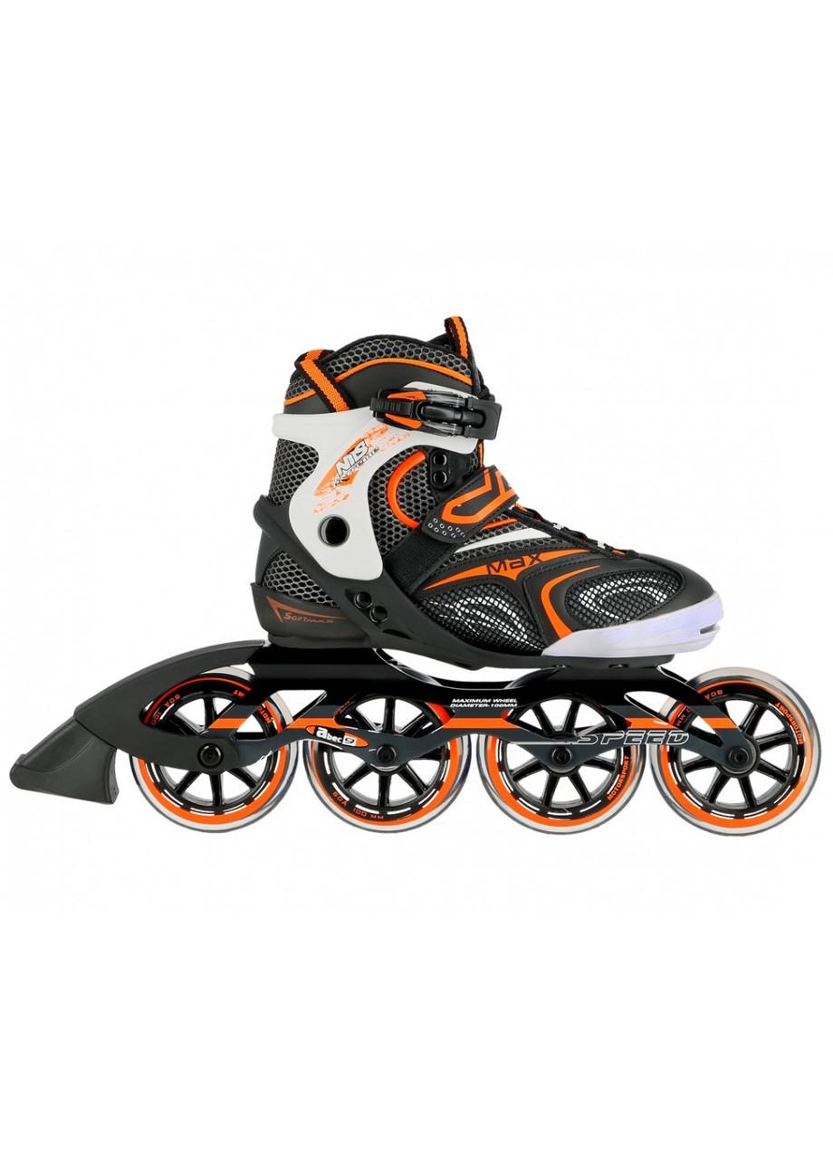 Роликовые коньки детские Nils Extreme NA1060S размер 42 Black/Orange. Ролики для детей