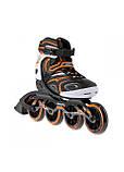 Роликовые коньки детские Nils Extreme NA1060S размер 42 Black/Orange. Ролики для детей, фото 2