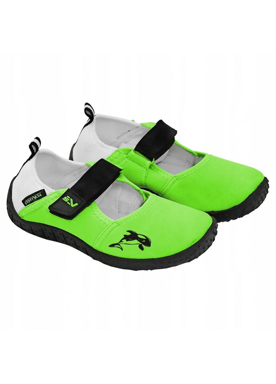 Обувь для пляжа (аквашузы, коралки) SportVida SV-DN0010-R24 размер 24 Green