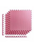 Мат-пазл (ласточкин хвост) 4FIZJO Mat Puzzle EVA 120 x 120 x 1 cм 4FJ0079 Pink. Мат-татами, коврик