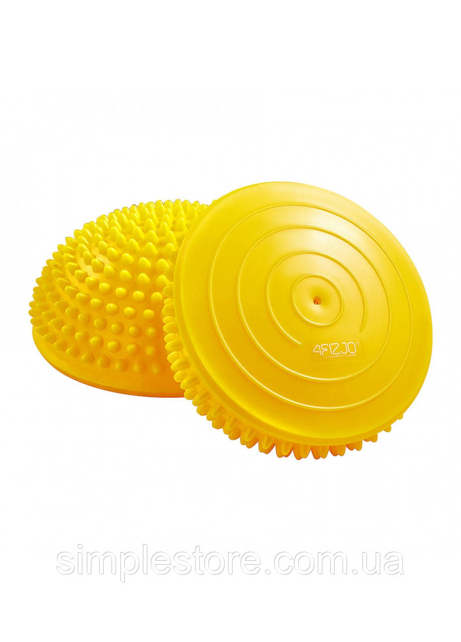 Полусфера массажная балансировочная (массажер для ног, стоп) 4FIZJO Balance Pad 16 см 4FJ0110 Yellow