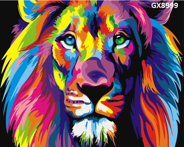 Картина по номерам. «Райдужний лев» GX8999