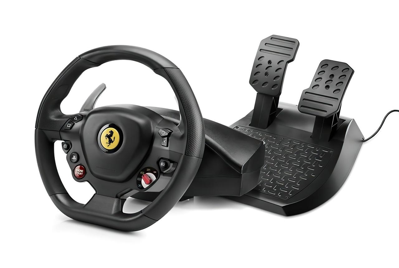 Игровой руль Thrustmaster T80 Ferrarri 488 GTB Edition PC/PS4 Black (4160672)