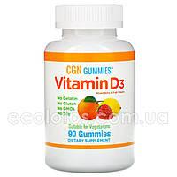 Жевательные таблетки с витамином D-3 California Gold Nutrition 50 мкг (2000 МЕ) 90 шт, фото 1