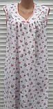 Нічна сорочка без рукава 48 розмір Рожеві трояндочки, фото 4
