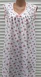 Нічна сорочка без рукава 48 розмір Рожеві трояндочки, фото 5