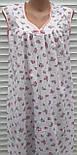 Нічна сорочка без рукава 48 розмір Рожеві трояндочки, фото 6