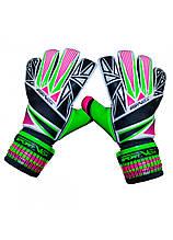 Вратарские перчатки SportVida SV-PA0001 размер 4. Футбольные перчатки зеленые, перчатки для футбола