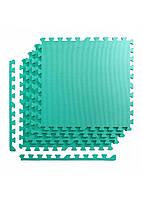 Мат-пазл (ласточкин хвост) 4FIZJO Mat Puzzle EVA 120 x 120 x 1 cм 4FJ0077 мятный. Мат-татами, коврик