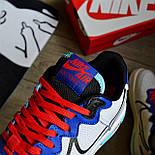 Мужские кроссовки Nike Air force 1 low React белые демисезонные. Живое фото. Реплика. Чоловічі кросівки весна, фото 7