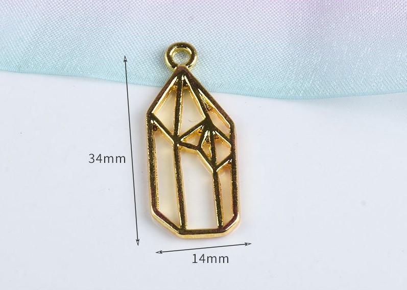 Форма (рамка, подвеска) для эпоксидной смолы, Кристалл 1, золото