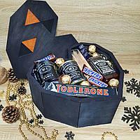 Подарочный бокс  Настоящего мужчины Jack Daniel's, оригинальный подарок мужчине Мужской Подарочный Набор Джек, фото 1