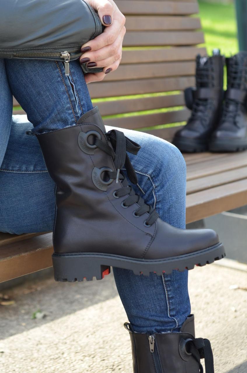 Женские ботинки кожаные зимние черные Carlo Pachini 4-2501/19-14