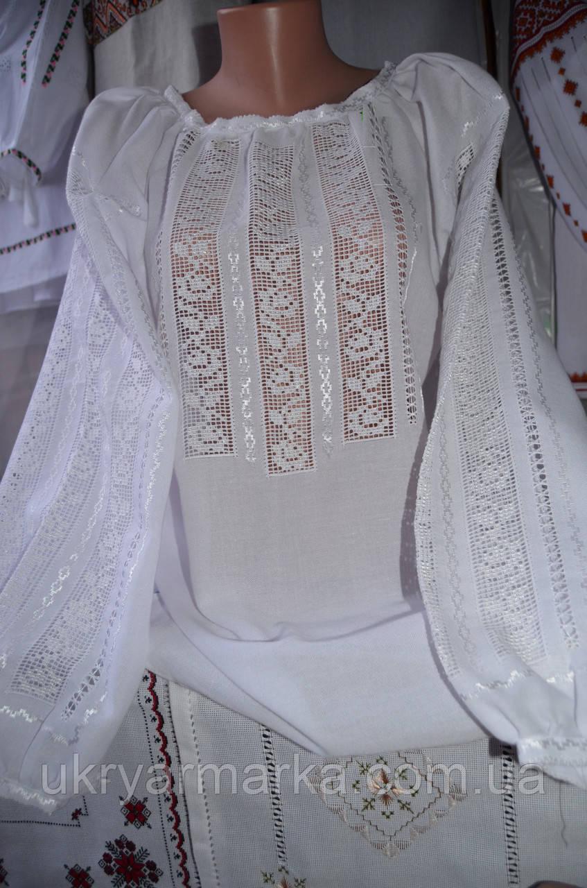 "Модна вишита блузка ""Біла троянда"""