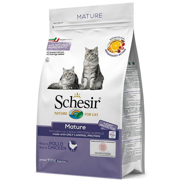 Schesir (Шезир) Cat Mature Chicken сухой корм для пожилых кошек с курицей