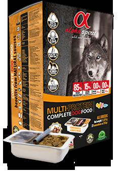 Alpha Spirit Multiprotein полувлажный корм для собак