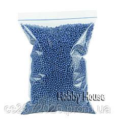 Шарики пенопластовые 2-4 мм,1000 мл, Синий,  для слаймов и декора.