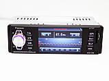 "1 din автомагнитола Pioneer 4204 ISO 4,1'' MP3 + USB RGB подсветка (1 дин магнитола с большим экраном 4,1""), фото 3"