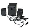 Колонки Мощные для компьютера FT-202 Mini 2.1 - Сабвуфер USB Black, фото 6