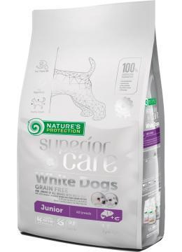 Nature's Protection White Dogs Grain Free Junior беззерновой корм для юниоров с белой шерстью