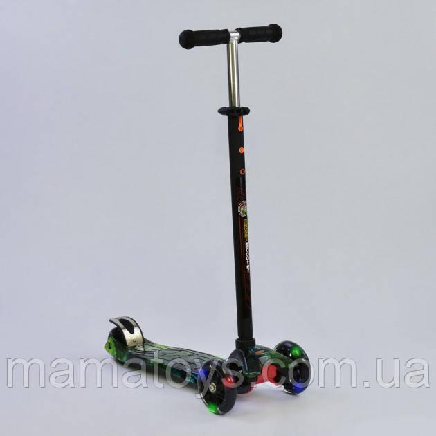 Детский трехколесный Самокат А 25462 /779-1317 Best Scooter Макси Колеса PU, светятся