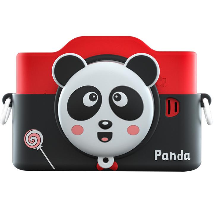 Фотоаппарат детский цифровой 2 камеры 28 Мп Panda голубой, розовый, красный