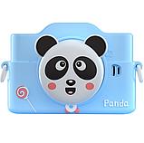 Фотоаппарат детский цифровой 2 камеры 28 Мп Panda голубой, розовый, красный, фото 2