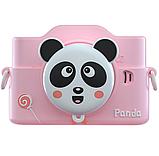 Фотоаппарат детский цифровой 2 камеры 28 Мп Panda голубой, розовый, красный, фото 3