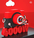 Фотоаппарат детский цифровой 2 камеры 28 Мп Panda голубой, розовый, красный, фото 4