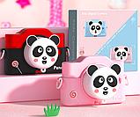 Фотоаппарат детский цифровой 2 камеры 28 Мп Panda голубой, розовый, красный, фото 5
