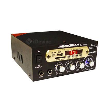 Усилитель звука Boschman BM-800BT USB, FM. Bluetooth, фото 2