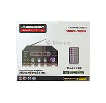 Усилитель звука Boschman BM-800BT USB, FM. Bluetooth, фото 3