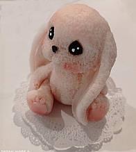 Мыло ручной работы зайчик розовый
